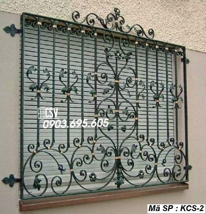 mẫu khung bảo vệ cửa sổ KCS 02