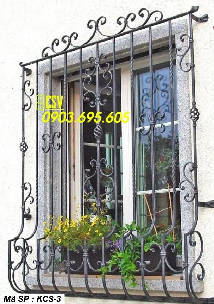 mẫu khung bảo vệ cửa sổ KCS 03