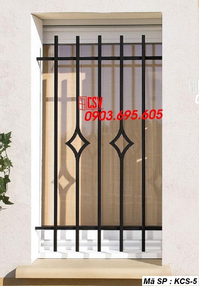 mẫu khung bảo vệ cửa sổ KCS 05