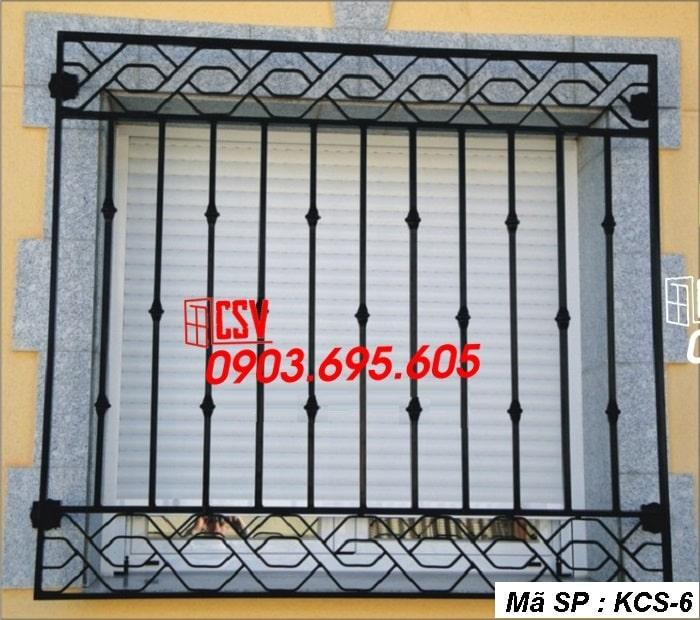 mẫu khung bảo vệ cửa sổ KCS 06