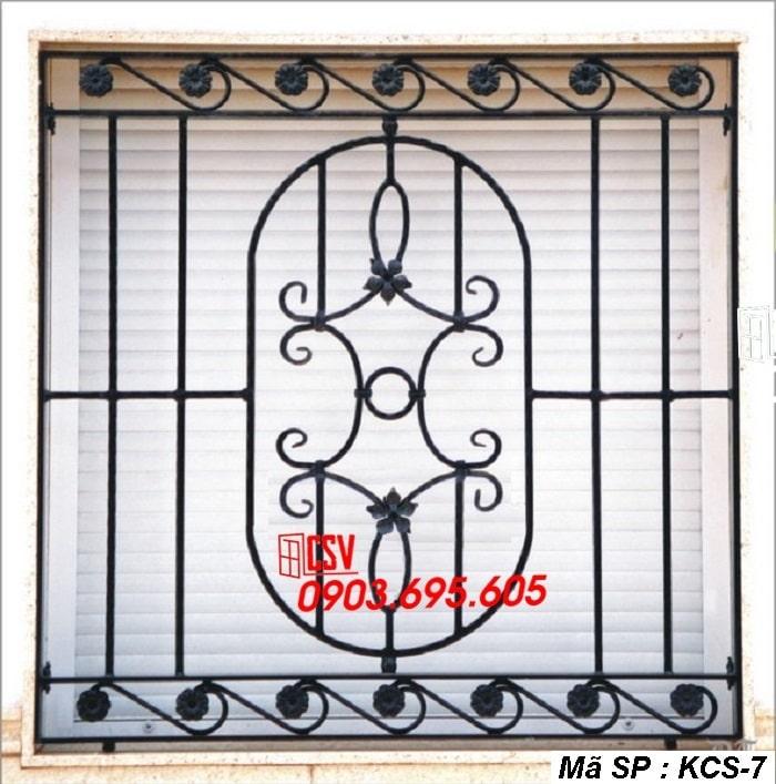 mẫu khung bảo vệ cửa sổ KCS 07