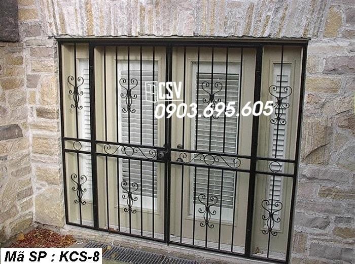 mẫu khung bảo vệ cửa sổ KCS 08