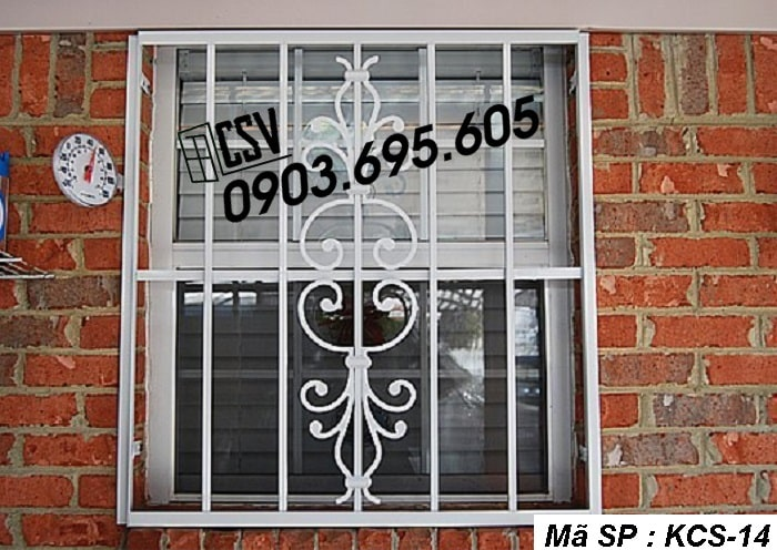 mẫu khung bảo vệ cửa sổ KCS 14
