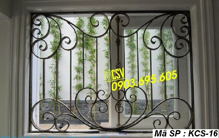 mẫu khung bảo vệ cửa sổ KCS 16