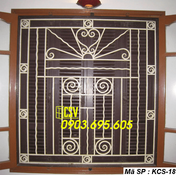 mẫu khung bảo vệ cửa sổ KCS 18