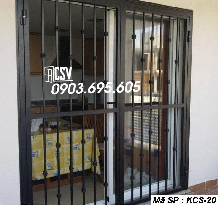 mẫu khung bảo vệ cửa sổ KCS 20