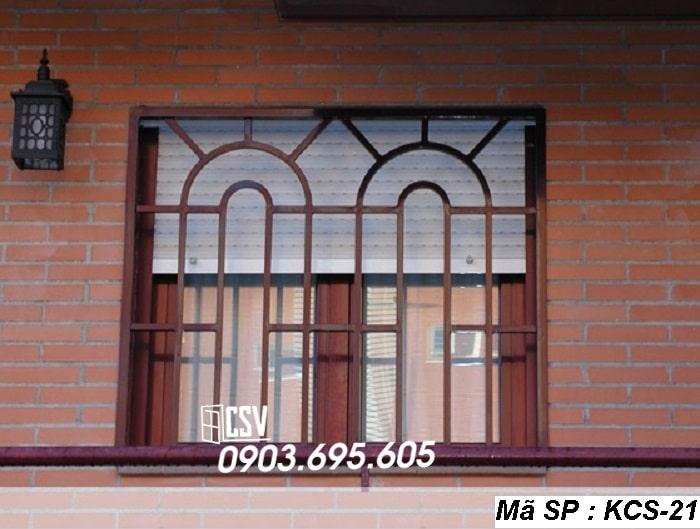 mẫu khung bảo vệ cửa sổ KCS 21