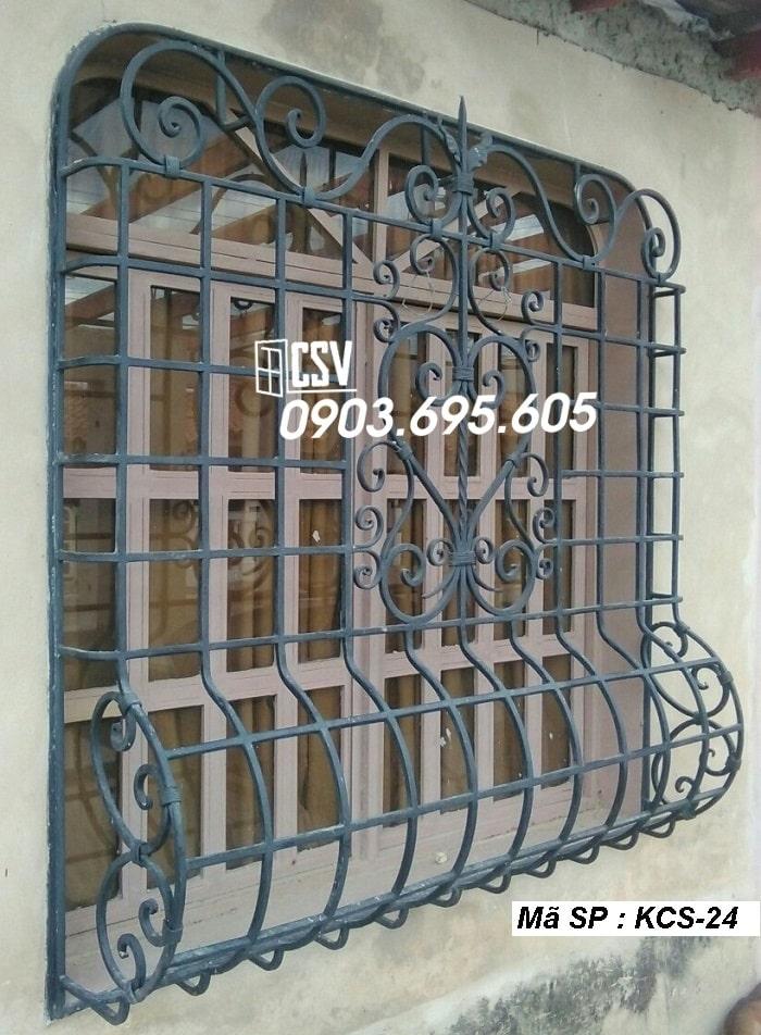 mẫu khung bảo vệ cửa sổ KCS 24