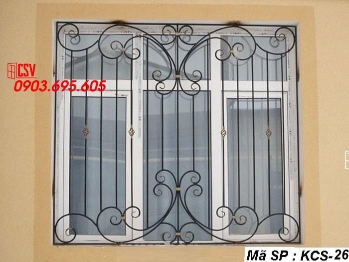 Mẫu song cửa sổ sắt đẹp KCS - 26