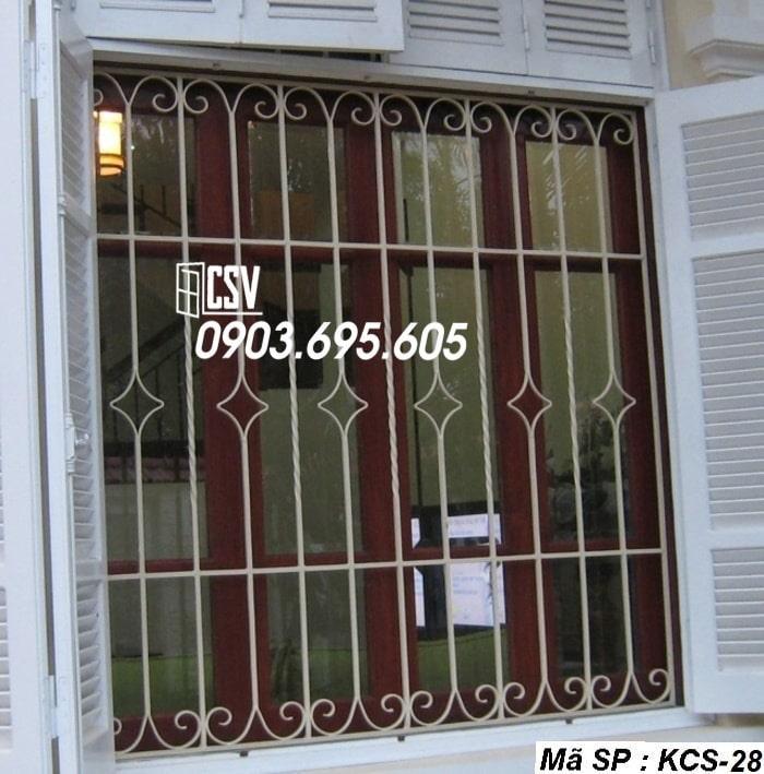 Mẫu song cửa sổ sắt đẹp KCS - 28