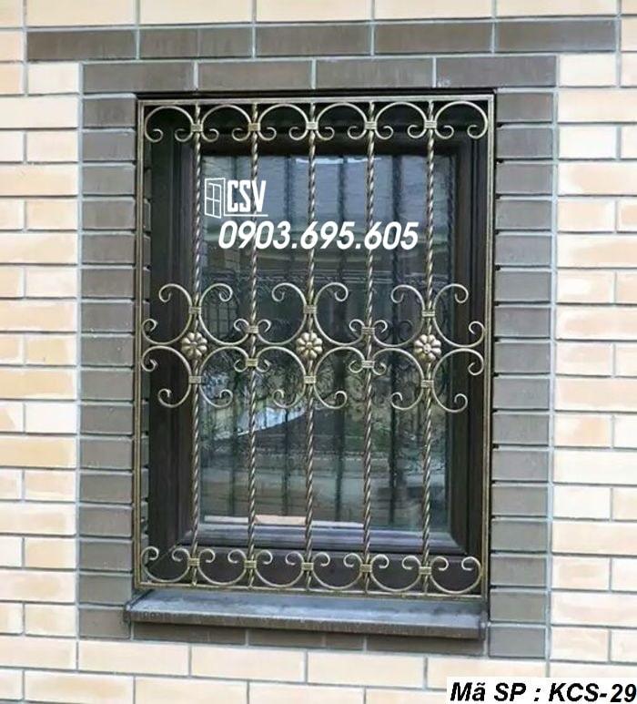 Mẫu song cửa sổ sắt đẹp KCS - 29