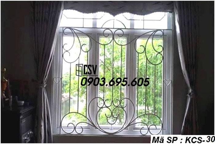 Mẫu song cửa sổ sắt đẹp KCS - 30