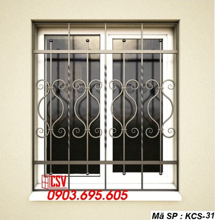 Mẫu song cửa sổ sắt đẹp KCS - 31