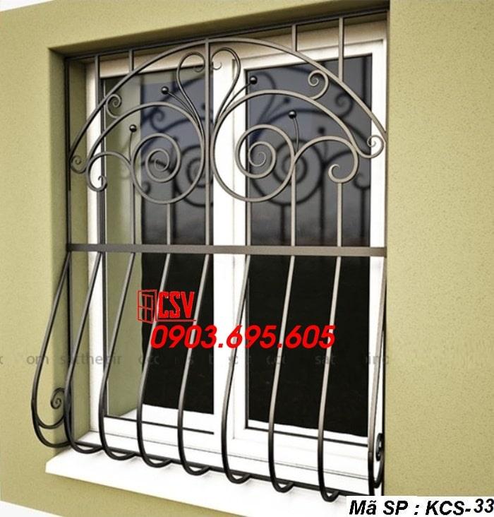 Mẫu song cửa sổ sắt đẹp KCS - 33