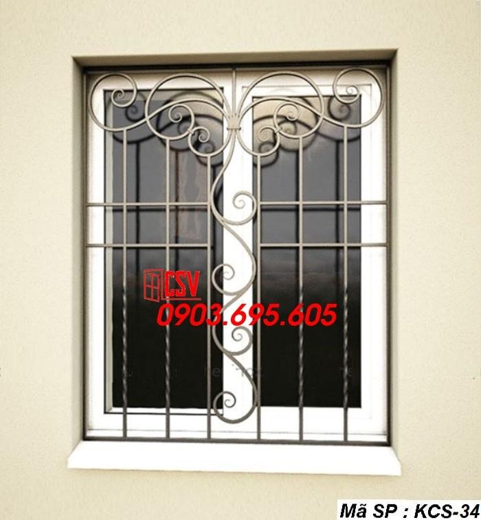 Mẫu song cửa sổ sắt đẹp KCS - 34