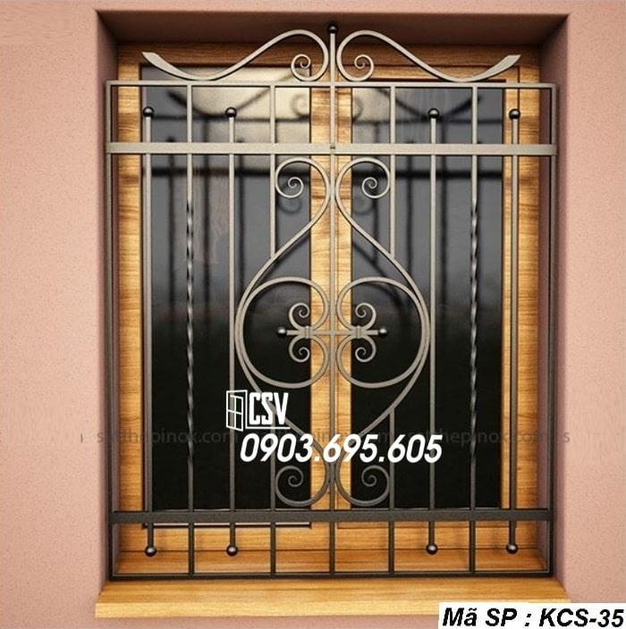 Mẫu song cửa sổ sắt đẹp KCS - 35