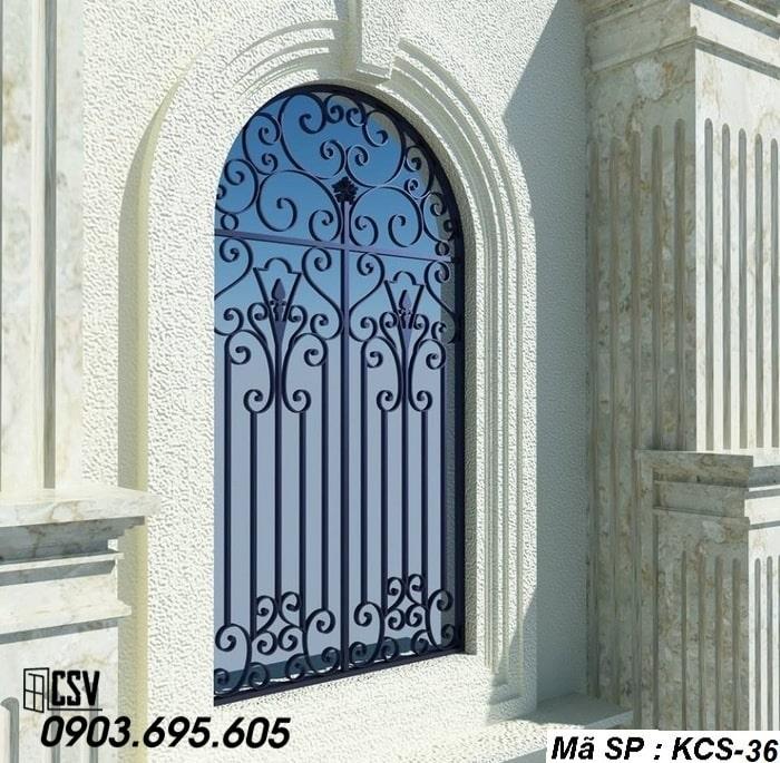 Mẫu song cửa sổ sắt đẹp KCS - 36