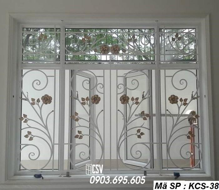 Mẫu song cửa sổ sắt đẹp KCS - 38