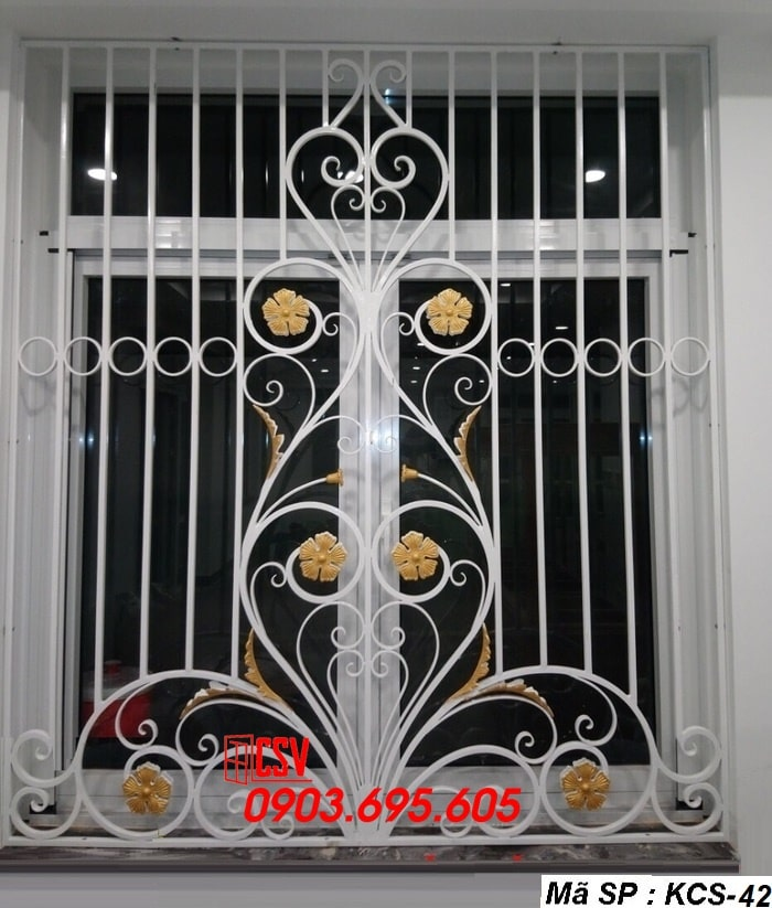 Mẫu song cửa sổ sắt đẹp KCS - 42