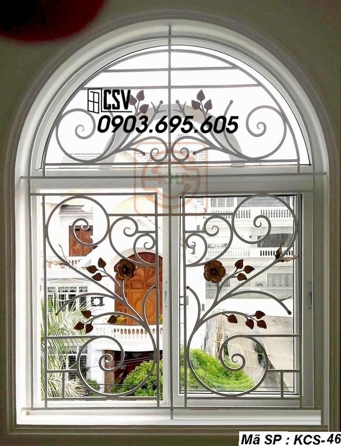 Mẫu song cửa sổ sắt đẹp KCS - 46