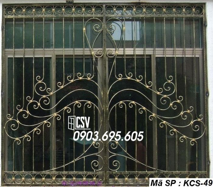 Mẫu song cửa sổ sắt đẹp KCS - 49