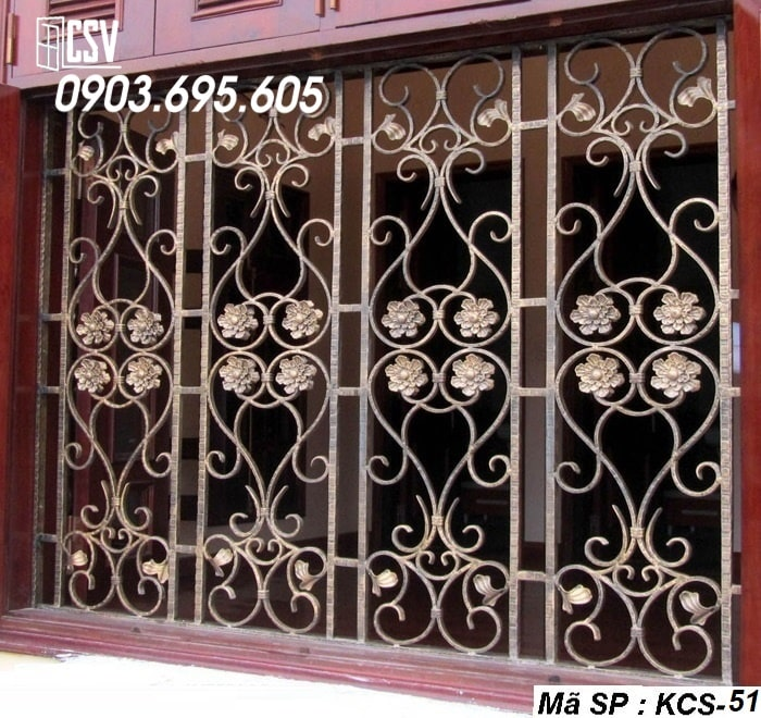 Mẫu song cửa sổ sắt đẹp KCS - 51