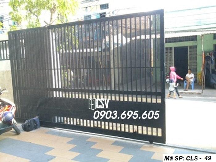 Cửa sắt ray trượt 49