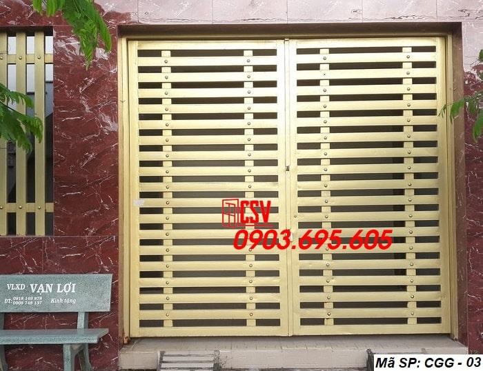 Mẫu cửa sắt giả gỗ CGG 03