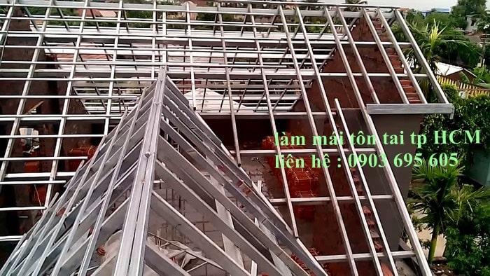 Lợp mái tôn trọn gói tại TP.HCM