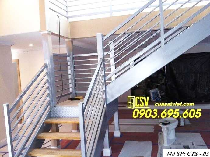 Mẫu cầu thang sắt đẹp CTS 03
