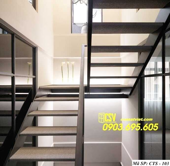 Mẫu cầu thang sắt đẹp CTS 103