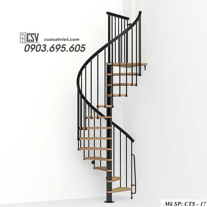 Mẫu cầu thang xoắn đẹp CTS 17