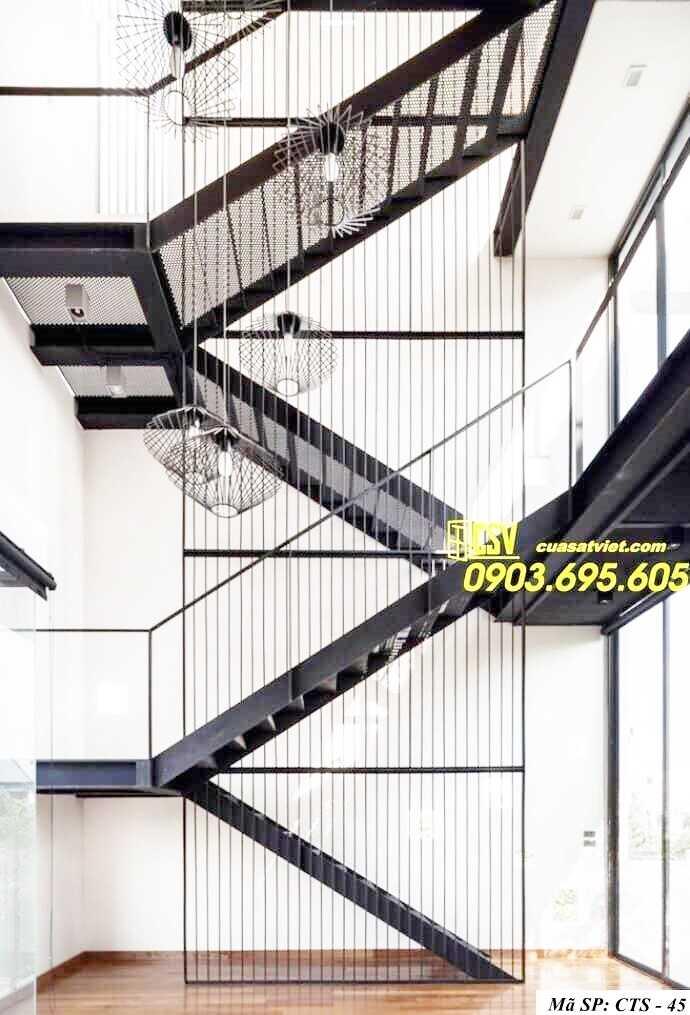 Mẫu cầu thang sắt đẹp CTS 45