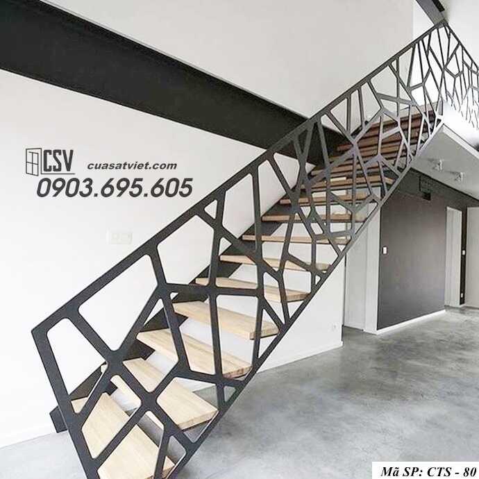 Mẫu cầu thang sắt đẹp CTS 80