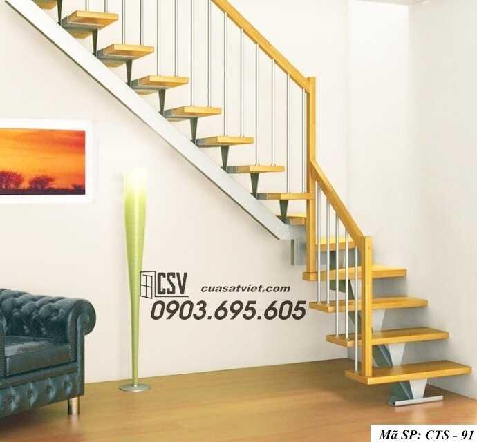 Mẫu cầu thang sắt đẹp CTS 91