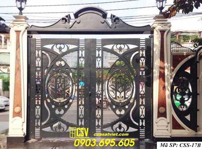 Mẫu cổng nhà đẹp CCS 17b