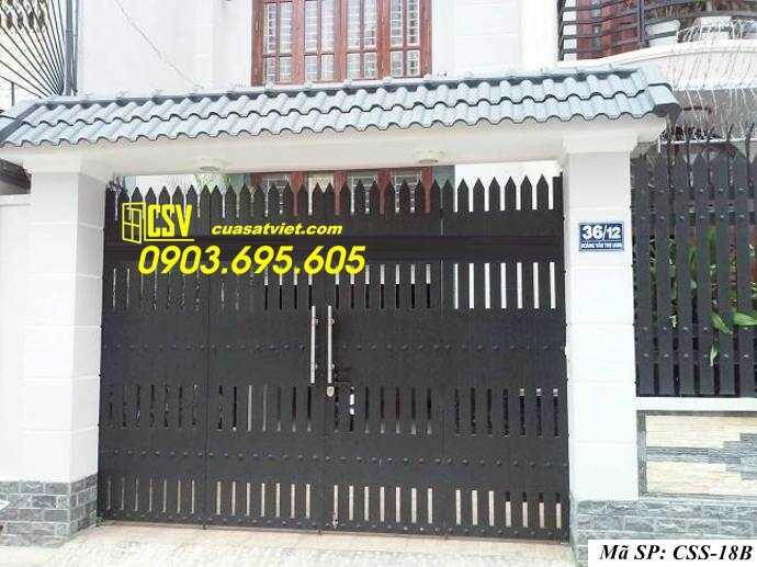 Mẫu cổng nhà đẹp CCS 18b