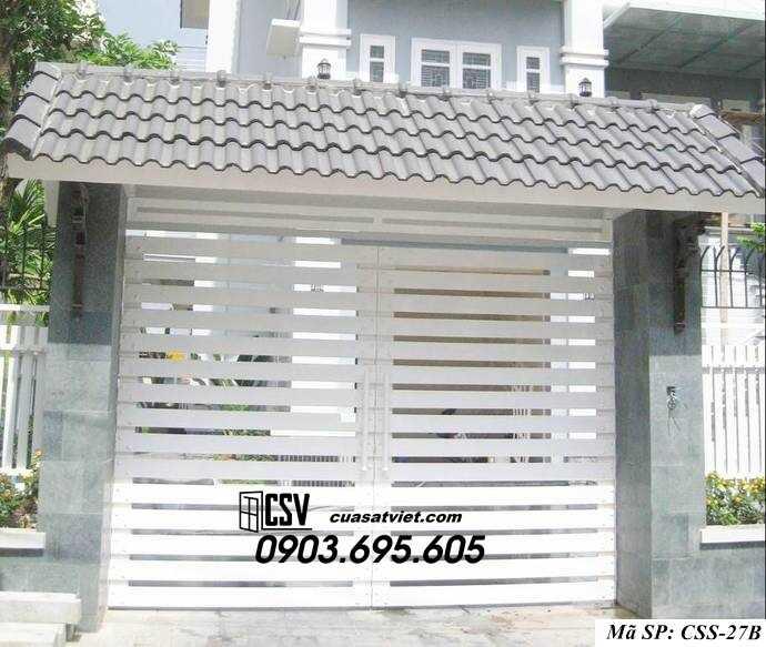Mẫu cổng nhà đẹp CCS 27b