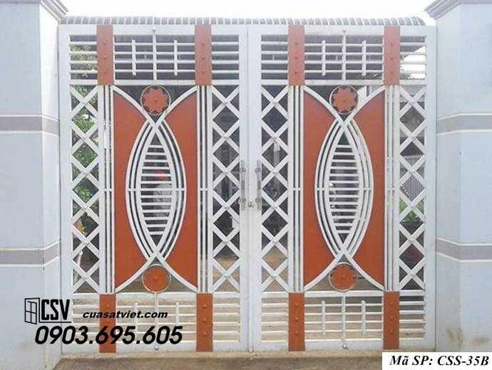 Mẫu cổng nhà đẹp CCS 35b