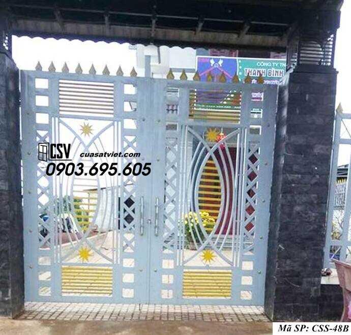 Mẫu cổng nhà đẹp CCS 48b