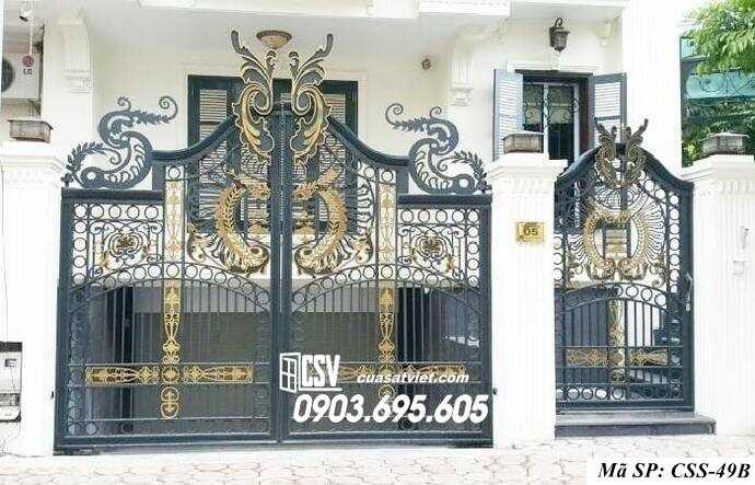 Mẫu cổng nhà đẹp CCS 49b