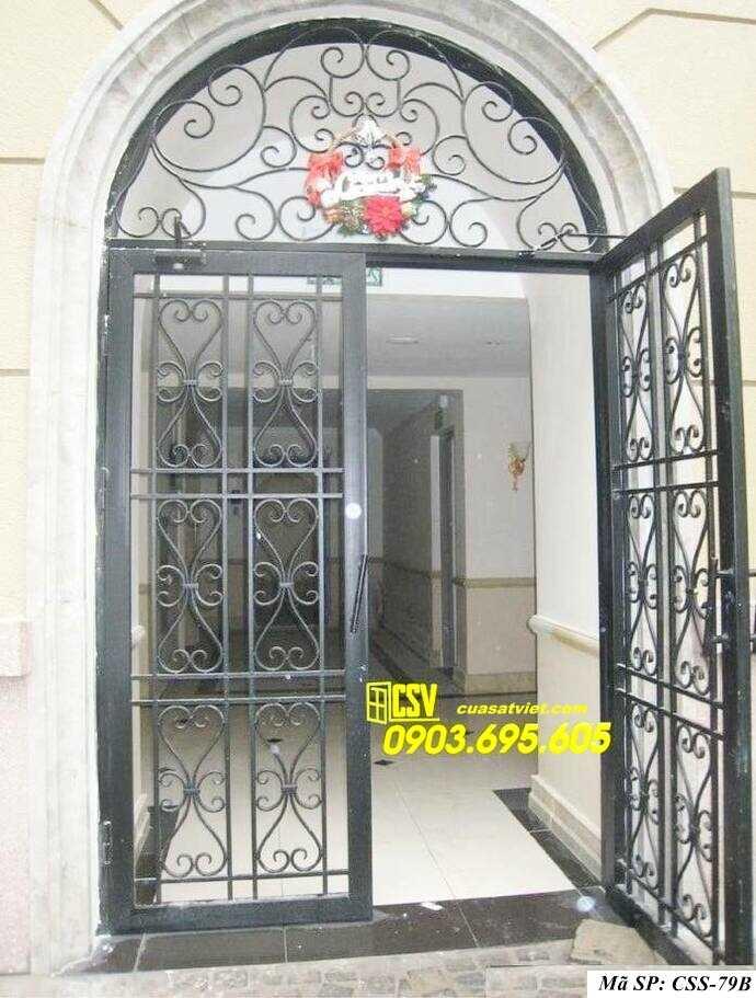 Mẫu cổng nhà đẹp CCS 79b