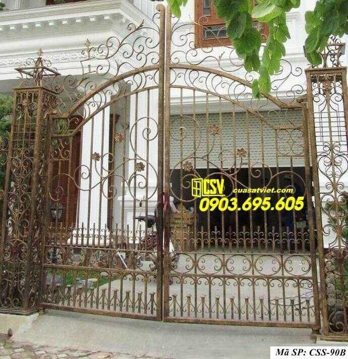 Mẫu cổng nhà đẹp CCS 90b