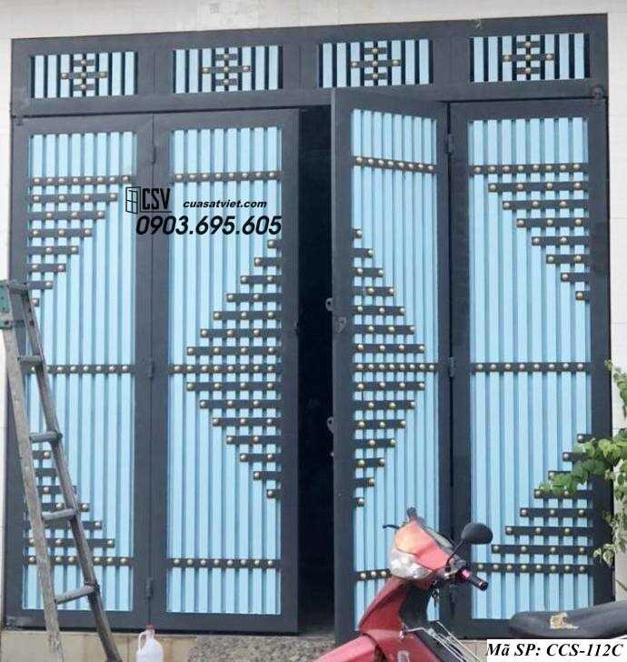 Mẫu cổng nhà đẹp CCS 112c