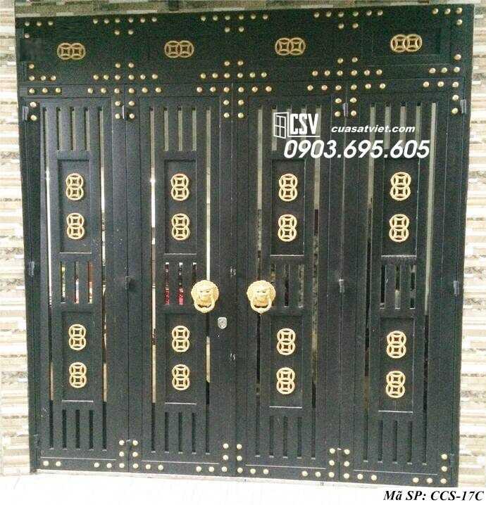 Mẫu cổng nhà đẹp CCS 17c