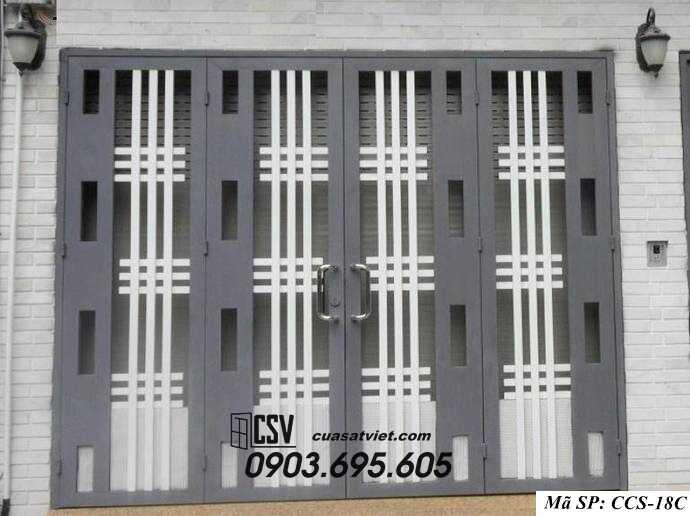 Mẫu cổng nhà đẹp CCS 18C