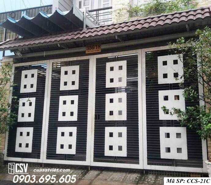 Mẫu cổng nhà đẹp CCS 21c