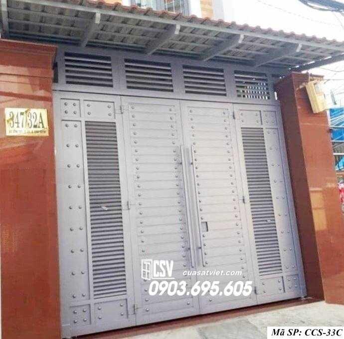 Mẫu cổng nhà đẹp CCS 33c