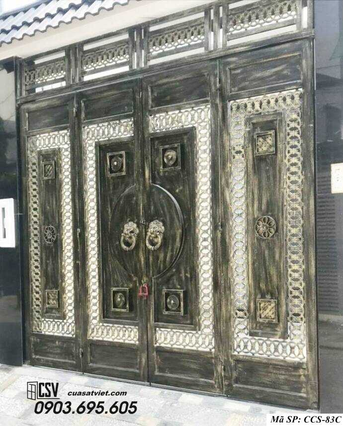 Mẫu cổng nhà đẹp CCS 83c