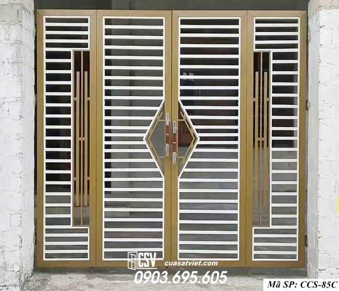 Mẫu cổng nhà đẹp CCS 85C